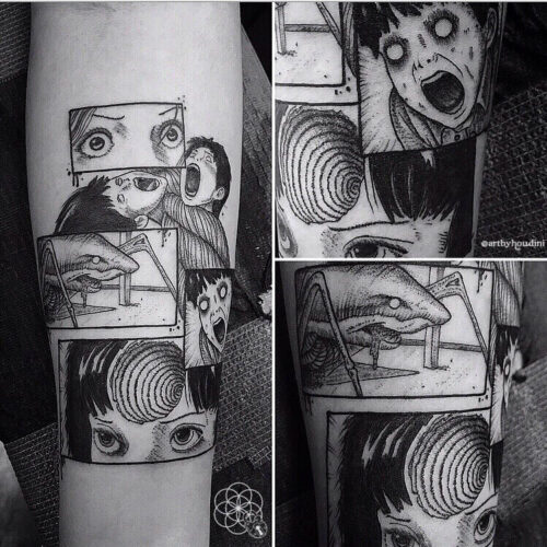 graphic style tattoo