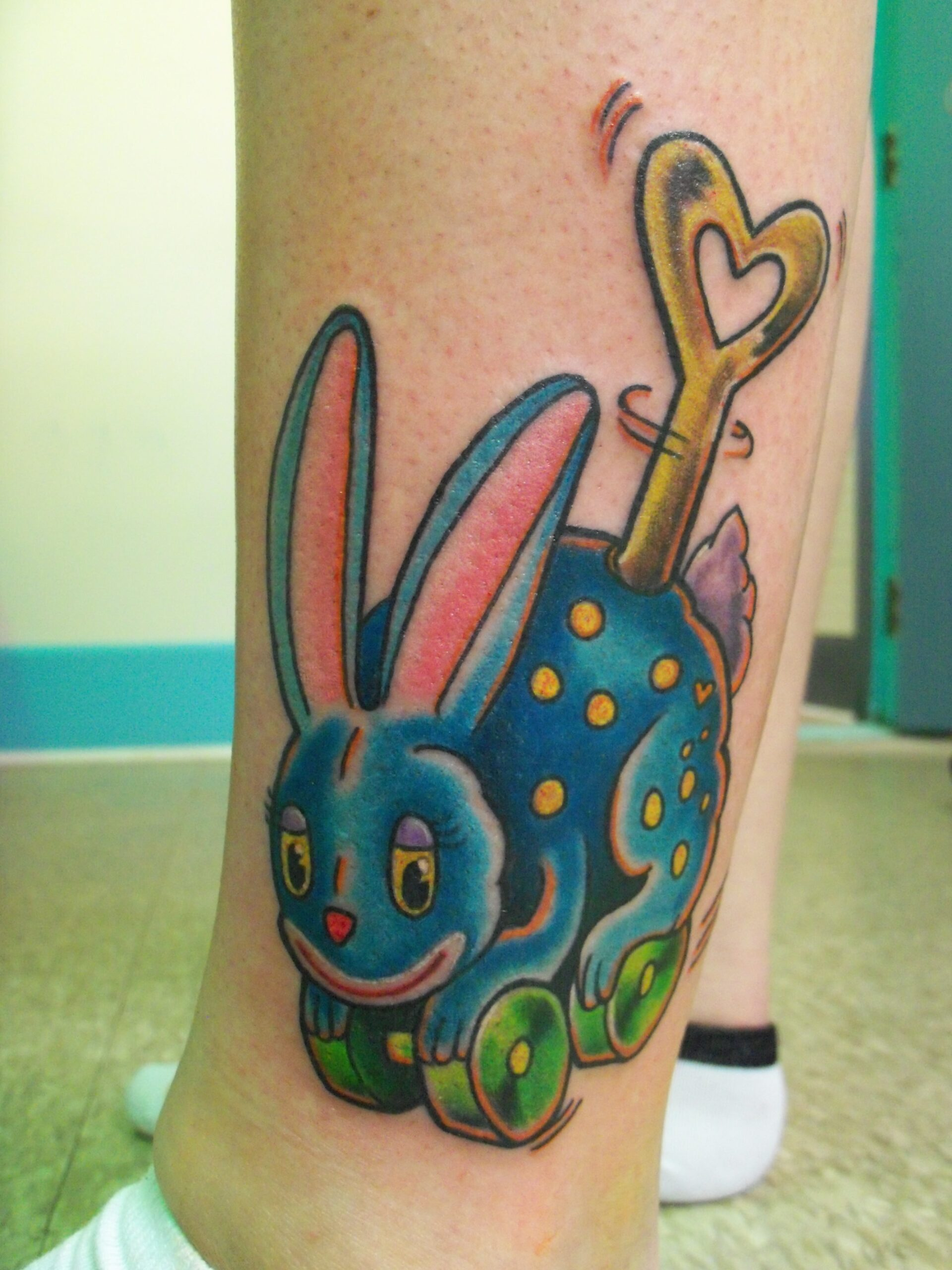 wind up rabbit toy tattoo
